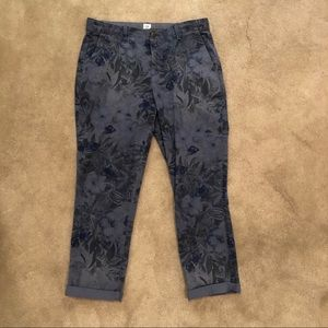 Gap size 6 blue gap girlfriend chino pants